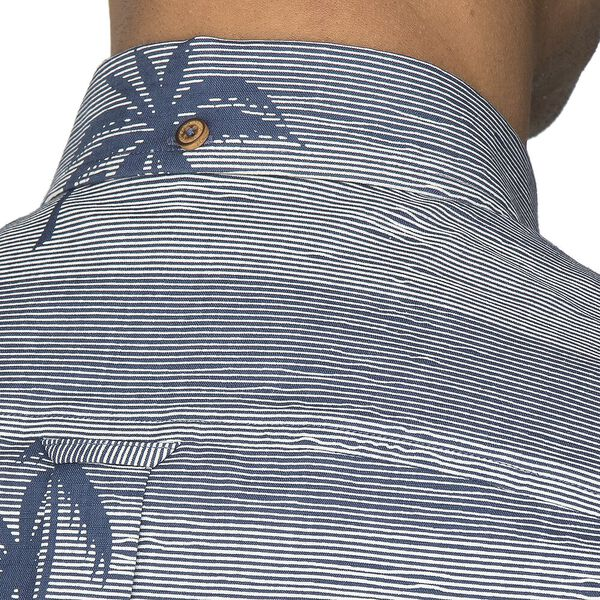 STRIPED PALM PRINT SHIRT, DARK BLUE, hi-res