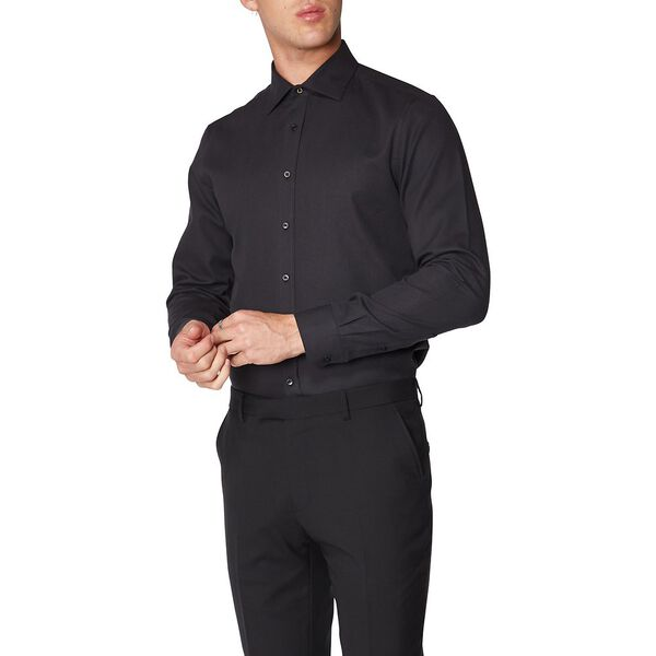 Basket Weave Kings Shirt, BLACK, hi-res