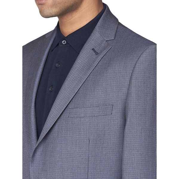 British Micro Gingham Jacket, ROYAL BLUE, hi-res