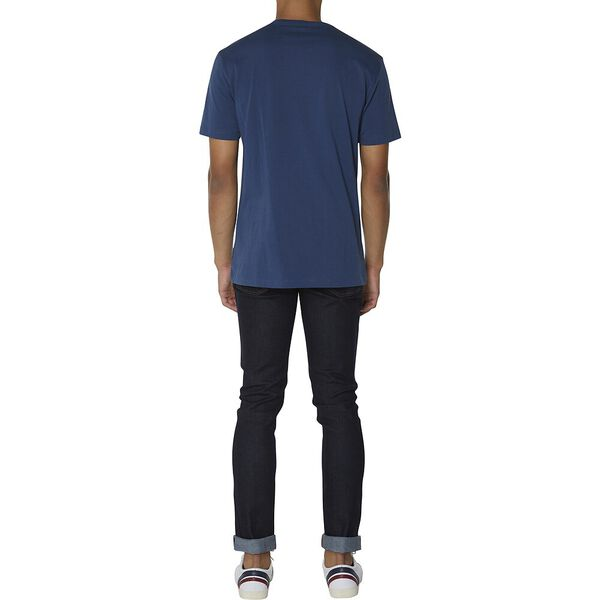 CHEST EMBROIDERY TEE, DARK NAVY, hi-res