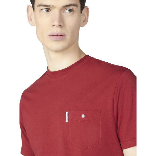 ORGANIC SIGNATURE POCKET TEE, RED, hi-res