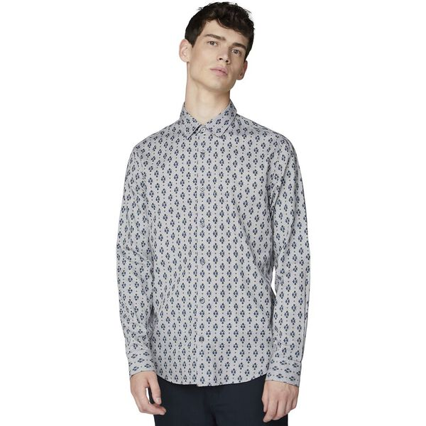 Ls Scattered Fairisle Shirt Smoke, SMOKE, hi-res