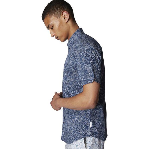 Retro Floral Shirt, NAVY, hi-res