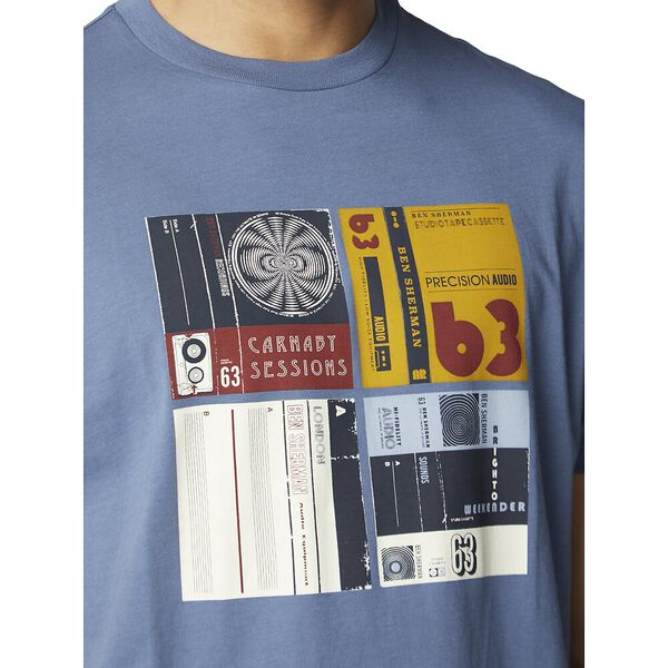 Cassette Inlay Tee, LT INDIGO, hi-res
