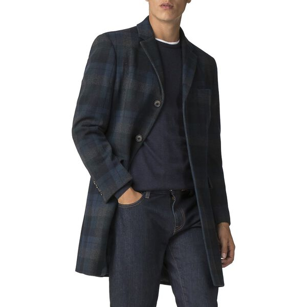STATEMENT CHECK COAT, DARK GREEN, hi-res