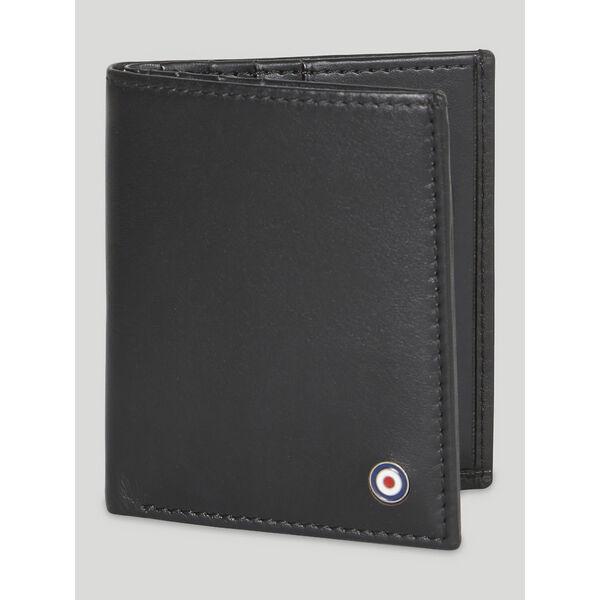 LEATHER CARD CASE WALLET, BLACK, hi-res