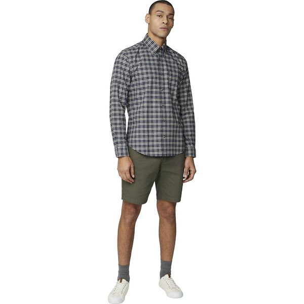 Oxford Check Shirt, DARK NAVY, hi-res