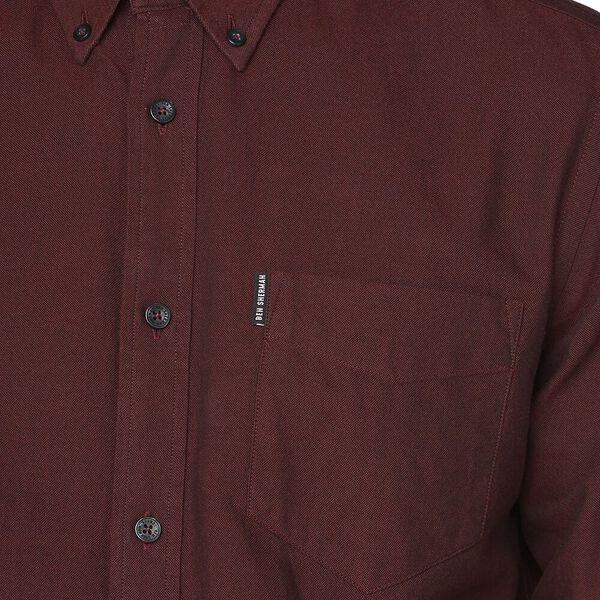 Ls Oxford Shirt Brown, BROWN, hi-res