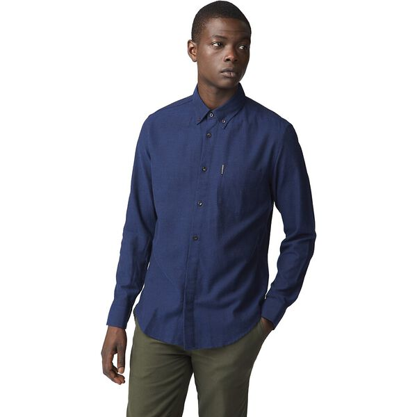 Ls Flannel Shirt Midnight, MIDNIGHT, hi-res